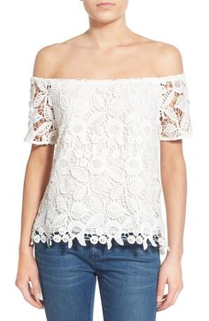 Wayf Lace Off the Shoulder Top available at #Nordstrom