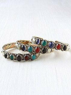 Multi Stone Skinny Cuff at Free People Clothing Boutique on Wanelo