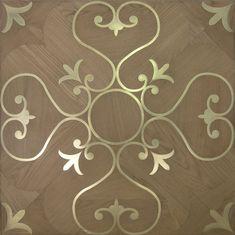 Solid parquet flooring / oak / oiled / metal inlaid INLAY17 LEMMA PAVIMENTI…