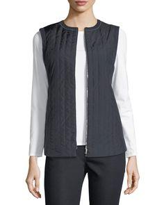 $139.0. LAFAYETTE 148 Jacket Bailey Alpine Outerwear Vest #lafayette148 #jacket #vest #clothing Linen Jackets, Lafayette 148, Neiman Marcus, Diamond Cuts, Luxury Fashion, Cashmere, Leather Jacket, York, Clothes