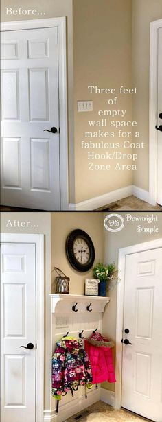 Easy How to DIY Mudroom Entryway Tutorial #diyremodeling