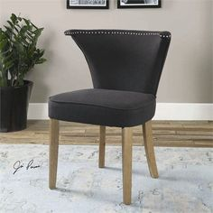 Uttermost Dasen Dark Gray Accent Chair (23254)