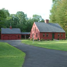 Love this simple farmhouse on Early New England Homes