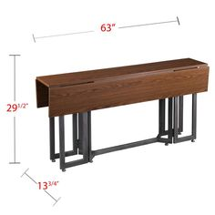 Driness Drop Leaf Console To Dining Table Dark Tobacco - Holly & Martin : Target Dining Table Sale, Diy Table, Table And Chairs, Console Table, Dining Tables, Table Seating, Consoles, Contemporary Dining Table, Drop Leaf Table