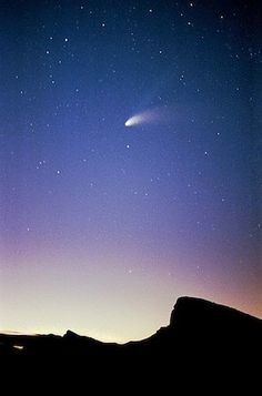 Comet Hale-Bopp, Death Valley, 1997