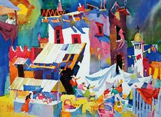Frank Webb colorful watercolor painting