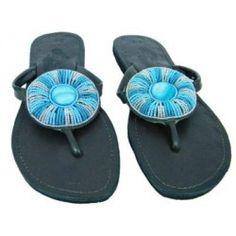 African Beaded Sandals by Azu's Leather (Bonoco) Beaded Sandals, African Beads, Dream Shoes, Women Sandals, African Fashion, Creativity, Footwear, Stylish, Board