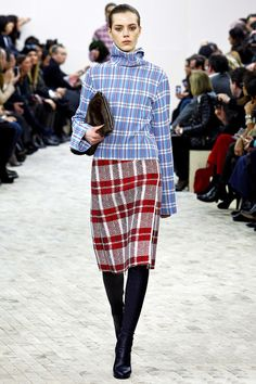 Tartan #Plaid Pattern#Fashion #Trend for Fall Winter 2013  CélineF/W 2013#PFW