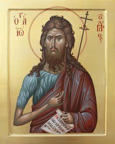 Saint John, The Holy Forerunner and Baptist of the Lord Byzantine Icons, Byzantine Art, Religious Icons, Religious Art, Orthodox Christianity, John The Baptist, Orthodox Icons, Christian Art, Saints
