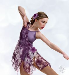 Curtain Call Costumes® - Wild Whimsy Captivating contemporary dance costume,available in three colors.