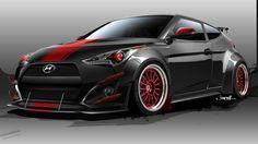 Hyundai Veloster Turbo BTR Edition goes demonic at SEMA