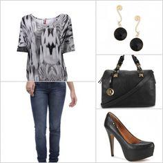 Essa estampa preta e branca da blusa é diferenciada. http://tempodemoda.climatempo.com.br/Recife