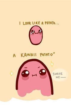 Kawaii Potato on Pinterest | Kawaii Potato, Bathroom Mirrors and ...