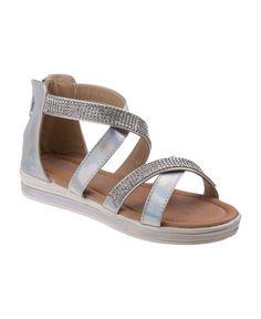 Kensie Girl's Every Step Open Toe Dressy Sandals - Silver 13 Dressy Sandals, Floral Sandals, Cute Sandals, Cute Shoes, Kids Sandals, Open Toe Sandals, Ankle Strap Sandals, Gladiator Sandals, Jack Rogers Sandals