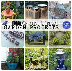 Best creative and frugal garden projects - all under $20