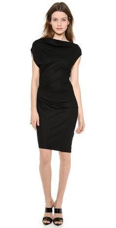 Helmut Lang Sonar Wool Asymmetrical Dress   SHOPBOP