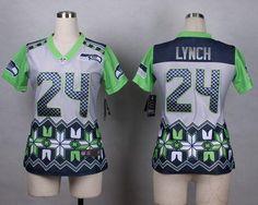 2015 New Nike NFL Seattle Seahawks Marshawn Lynch Women Fashion Elite Jersey d266a6c97