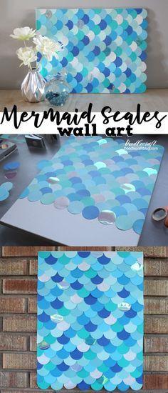 DIY: Mermaid Fish Scales Wall Art Backdrop!