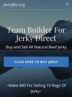 All natural beef jerky made from grass fed cattle with no hormones, and no preservatives! Check out The Awesome Business That's Helping me Get Off of Social Security!  JerkyBiz.org #Jerky #Business #Marketing #BeefJerky #AllNatural #NoPreservatives #GrassFedCattle  #JerkyBiz