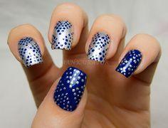 Blue Dot Nail Art with Zoya Nail Polish in Song and Trixie!
