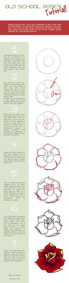 oldschool rose tutorial by katvangent