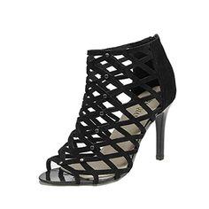 5621be07cc5fa Esailq Femme Été Tendance Sandales Talons Hauts Chaussures Sandales Sexy Bout  Ouvert Lanière Talon Bloc Haut