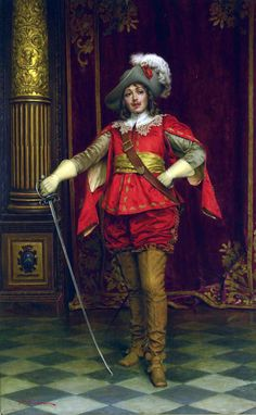 French musketeer in the King's court