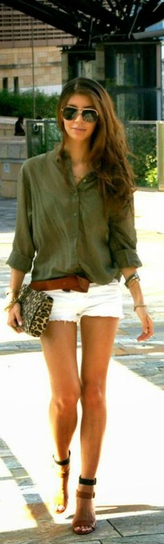 Love this look but the shorts would Need to add four inches to the shorts Myjbloom.com/sharoldegroot