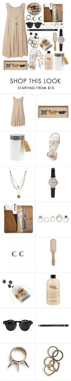 """""""birds"""" by vingtfleurs ❤ liked on Polyvore featuring TFNC, WALL, Alicia Marilyn Designs, Limit, CO, Iosselliani, LowLuv, Philip Kingsley, philosophy and Liz Earle"""