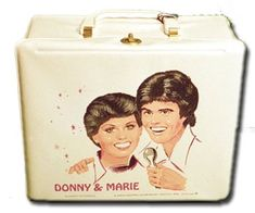 Donny & Marie vinyl lunchbox-my best friend in 1st grade had this. I can't remember what mine was tho.