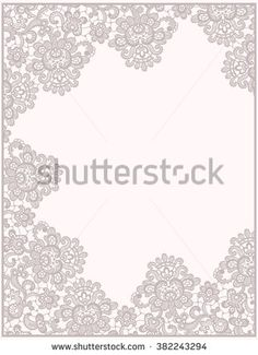 Congratulations Card. Lace Frame. - stock vector