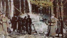 Crashed flying saucer in USSR.