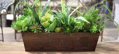 DIY Artificial Succulent Arrangement