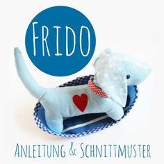Hund Frido nähen, kuschelhund, Kuscheltier, Stofftier. {free pattern}   ♥ DIY