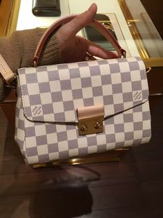 Louis Vuitton Damier Azur Croisette Bag N41581 www.luxvipshopper.com #N41581 #louisvuittonbags #louisvuitton #lv #Croisette #louisvuittonhandbags
