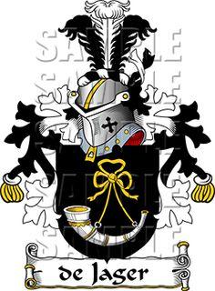 de Jager Family Crest apparel, de Jager Coat of Arms gifts