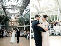 Inside the atrium   Brooklyn Garden Wedding (Photography by Victor Sizemore Photography)