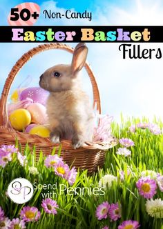 50+ Non-Candy Easter Basket Fillers! Love these fun and inexpensive ideas!