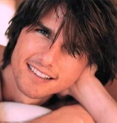 Tom Cruise, he crazy as a 3 dollar bill w/ a laugh like the devil but look at that smile.