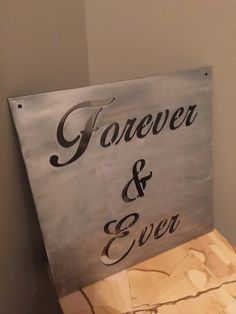 Forever and Ever custom metal wall decor by StratmanPlasma on Etsy