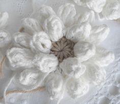 flor branca de ponto pipoca