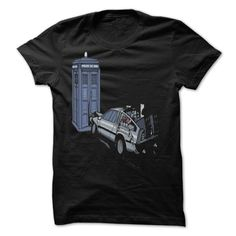 Dr Who Vs Back To the Future by DeckardTop T-Shirts, Hoodies. Get It Now ==> https://www.sunfrog.com/Valentines/Dr-Who-Vs-Back-To-the-Future-by-DeckardTop.html?id=41382