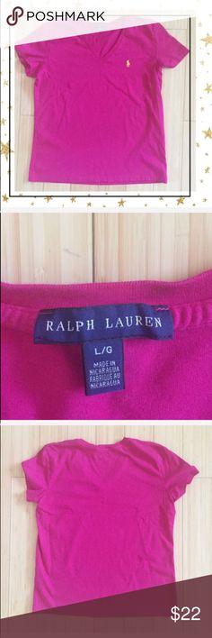 Ralph Louren Pint Short sleeve t- shirt (Hu34B5K) Short sleeve, v-neck. In good condition except white little stain by the logo . Offers welcome. No trade Ralph Lauren Tops Tees - Short Sleeve