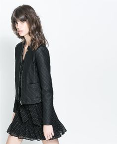 ZARA - NEW COLLECTION - FUR LINED JACKET