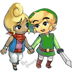 zelda and link holding hands - Google-haku