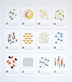 2015 calendrier mural formes par dozi sur Etsy