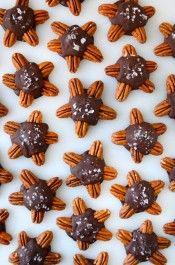 Cheesecake-Filled Chocolate Turtles recipe on justataste.com