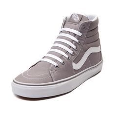 Vans Sk8 Hi Skate Shoe. Gray High Top ...