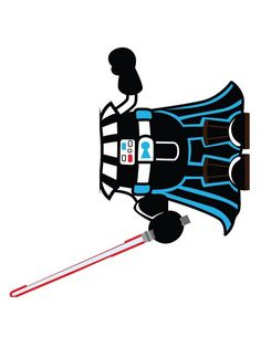 Star Wars Party-Animation-Birthday-Anniversaire-DIY-Jeu de l'âne, Kids, Dark Vador