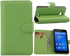 Jusun Sony Xperia E4g Case, Customized Leather Folio Stand Protective Wallet Case Cover For Sony Xperia E4g (green) http://www.smartphonebug.com/accessories/13-best-sony-xperia-e4g-dual-cases-and-covers/